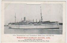 "Shipping postcard - S.s ""Somersetshire"" and ""Dorsetshire"" - Calendar Card (A162)"
