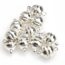 10 Sets Round Magnetic Clasps Silver Plated/Gold Plated U Choose Size/Color