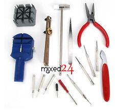 16tlg Uhrenwerkzeug Set Gehäuseöffner Uhrenmacherwerkzeug Armbandkürzer Werkzeug