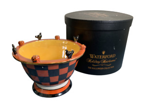"""Waterford Holiday Heirlooms THE HALLOWEEN COLLECTION CANDY BOWL W/BOX 5 """" TALL"""