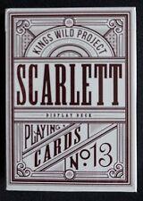 Scarlett Tally Ho Playing Cards - Display Deck (Kings Wild / Jackson Robinson)