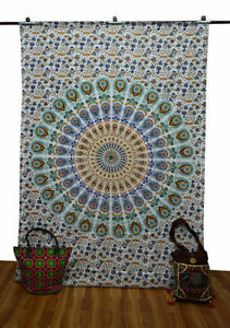 Tapestry Mandala Indian Twin Wall Hanging Cotton Bedspreads Bedding Bed Cover