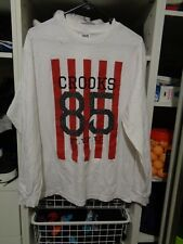 crooks and castles longsleeve tshirt size medium white graphic tee 85 f.w.u