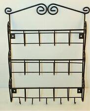 Black Iron Letter Key Hooks Holder Rack Storage Wall Mount Organizer