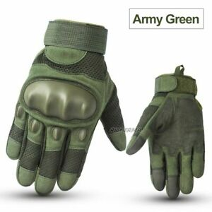 Motorcycle Gloves Touch Screen Cold Weather Winter Full Finger Hard Knuckle