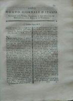 1795 NUOVO GIORNALE D'ITALIA SCULTURA DI ANTONIO CANOVA ARTE DI TOGLIERE MACCHIE