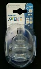 Philips Avent Anti-colic nipple 3M+ 2 pack med flow nipples BPA free Qty Pricing