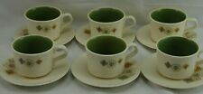 Vtg TST Taylor Smith Brocatelle Mid Century MCM Set 6 Cups Saucers #1
