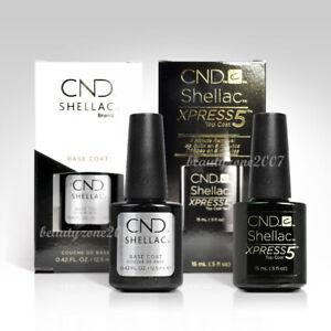 CND Shellac UV/LED Soak-Off Xpress5 Top Coat 0.5oz Base Coat 0.42oz Duo Pack