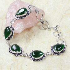 """Bracelet of 8.5"""" St-37298 Emerald 925 Silver Plated"""