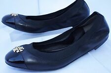 New Tory Burch Jolie Shoes Ballet Flats Black Size 8 Slip Ons Leather