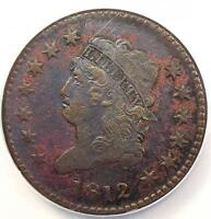 1812 Classic Liberty Head Large Cent 1C S-288 Large Date - NGC XF - Rare Key