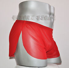 Short taille L  rouge transparent total sheer sexy Ref M01 neofan