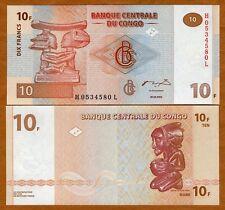 Congo D. R. 10 Francs, 2003, P-93, UNC