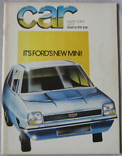 CAR 03/1974 Featuring Ferrari 365BB, Maybach, Opel, Ford Escort, Peugeot