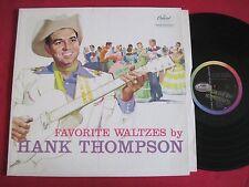 RARE COUNTRY LP - HANK THOMPSON - FAVORITE WALTZES - CAPITOL T-1111 VG+