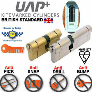 BS EURO CYLINDER HIGH SECURITY ANTI BUMP SNAP PICK DRILL door lock barrel UPVC