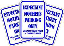 """EXPECTANT MOTHER PARKING SIGN * NEW * QUALITY ALUMINUM EXTERIOR SIGNS 12"""" x 18"""""""