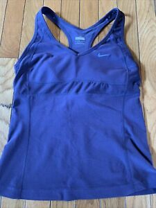 Nike Fit Dry Size Small 4-6 Workout Athletic Sport Tank Top Eggplant Purple