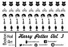 Harry Potter Vol. 3 - Waterslide Nail Decal - 50 PC - BNA-10272