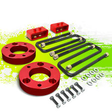 """2""""F SPACER+2""""R BLOCK LEVELING LIFT KIT FOR 04-17 FORD F150 4WD 4X4 TRUCK RED"""
