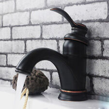 Deck Mounted Bathroom Basin Faucet Vanity Sink Mixer Vanity Tap Oil Rubbed Black