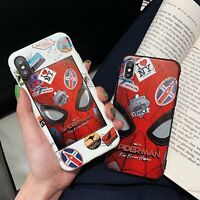 Cute Marvel Spiderman For iPhone 11 Pro X XS Max XR 6 7 8 Plus Phone Case Cover