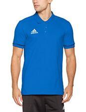 Adidas Tiro17 Co shirt Polo Hommes Bleu manches courtes Climalite Gr. L