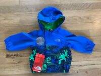 NWT The North Face Infant Boys Tailout Hooded Rain Jacket Coat Sz 3-6 M NEW $50