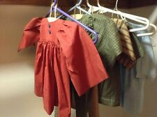 Doll and Bear Dress Up outfits w Hardwood Hangers Five outfits