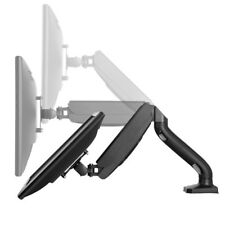 Single Computer Monitor Arm VESA Mount Holder with 2 USB Ports Adjustable Height
