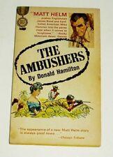 THE AMBUSHERS #6 MATT HELM PAPERBACK BOOK GOLD MEDAL KI333 BY DONALD HAMILTON