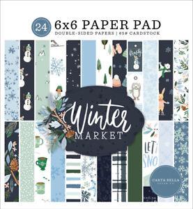 Carta Bella Paper WINTER MARKET 6x6 Scrapbook Paper Cardstock Pad