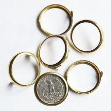 Quarter 25 cent USA Coin Holder Rim Setting Bezel Nailhead Prongs Brass Pk/10