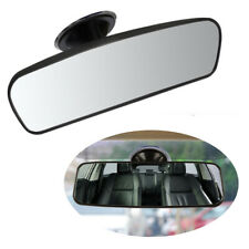 Car Wide Flat Interior Rear View Mirror Adjustable Angle with Large Suction Cup