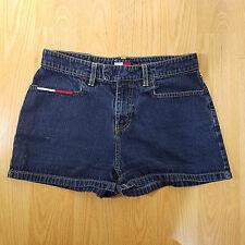 Vintage 90's Women's Tommy Hilfiger Size 7 Jean Denim Shorts Flag Logo