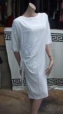 Authentic christian dior paris italien fait charmant blanc robe d'été UK 8-10