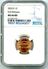 2020 D LINCOLN UNION SHIELD PENNY NGC MS66 RD FIRST RELEASES CENT RARE BLUE