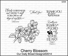Our Daily Bread Rubber Stamps - Cherry Blossom - Thanks, Flowers