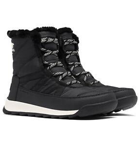 Ladies Sorel Whitney II Short Lace Waterproof Warm Nylon Winter Snow Mid Boots