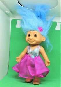 RUSS Vintage TRACY TROLL DOLL Silver & Purple Evening Dress MOVABLE
