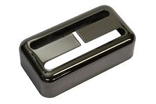 "Humbucker size Filtertron® pickup cover ""Smoked Black Nickel"" fits Lollartron"