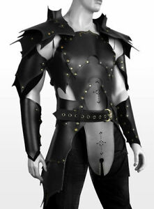 MEDIEVAL LEATHER LARP ARMOUR THEME PLAY STEAMPUNK REENACTMENT COSPLAY COSTUME