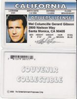 MEL GIBSON star of BRAVEHEART brave heart drivers License fake id card