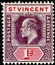 ST. VINCENT SG86a, 1d dull purple & carm, M MINT. Cat £12. WMK MULT CA (C)