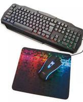 Slayer Desktop Gaming Keyboard, Mouse, Mousepad Mechanical -  Led Light Backlit