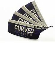 4 Packs CURVED LIGHTS Cigarette Rolling PAPERS  1 1/4 Size/50 sheets per pack