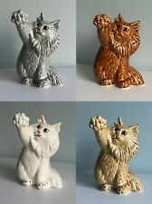 Siberian cat porcelain figurine, handmade, cat figurine