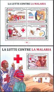 Mint S/S Red Cross Malaria 2013 from Burundi  avdpz