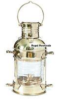 Oil Lamp Nautical Maritime Ship Lantern Boat  BRASS ANCHOR Lamps Lantern